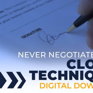 closing and negotiating digital download