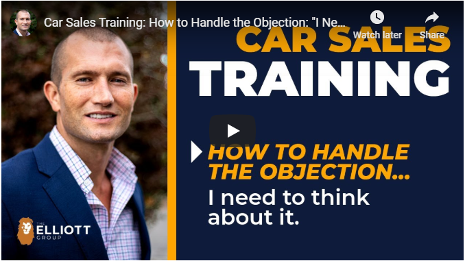 andy elliott teaches handling objections in car sales