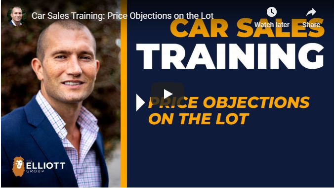andy elliott teaches how to price objections in car sales