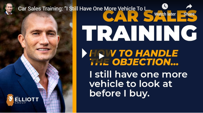 andy elliott teaches how to handle objections in car sales