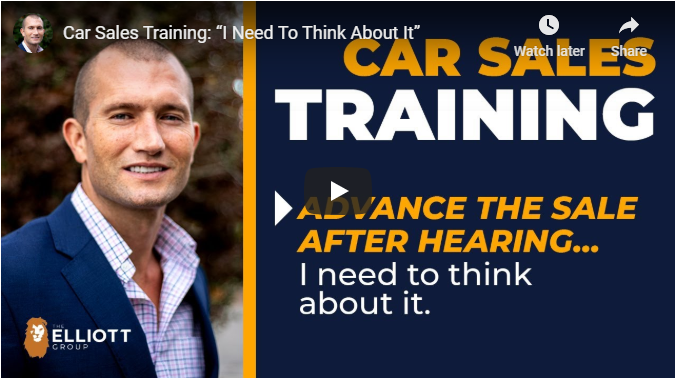 """Andy elliott Car Sales Training: """"I Need To Think About It"""""""